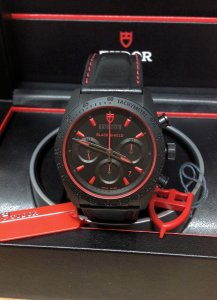 Tudor Fastrider Black Shield 70330 42mm Black Dial