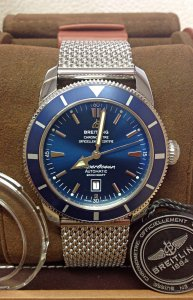 Breitling Superocean Heritage A17320 46mm Blue Dial
