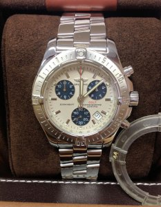 Breitling Colt Chronograph A73380 Silver Dial