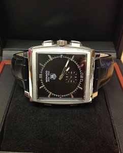 Tag Heuer Monaco 69 CW9110-0 Black Dial Serviced