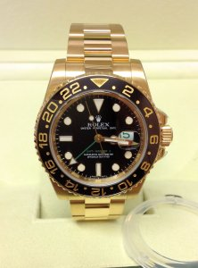 Rolex GMT Master II 116718LN Yellow Gold