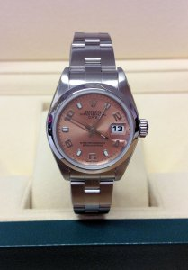 Rolex Oyster Perpetual Date 79160 26mm Salmon Dial