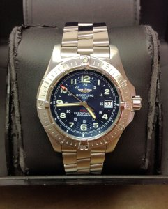 Breitling Colt Quartz A74380 41mm Blue Dial