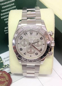 Rolex Daytona 116509 White Gold Factory Dial