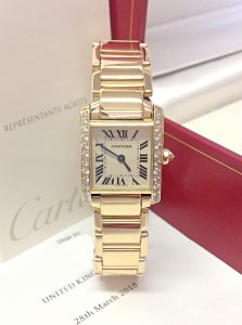 Cartier Tank Francaise WE1001R8 Yellow Gold