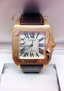 Cartier Santos 100 W20071Y1 Yellow Gold