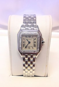 Cartier Panthere WF3091F3 Ladies 22mm White Gold