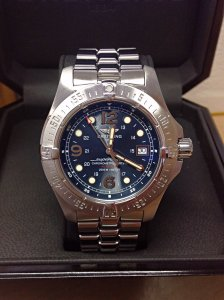 Breitling Superocean Steelfish A17390 Blue Dial