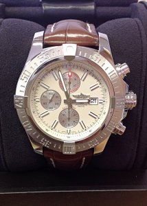 Breitling Super Avenger II A13371 Stratus Silver Dial