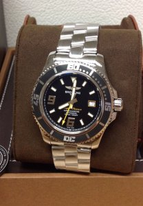 Breitling Superocean 44 A17391 Black & Yellow Dial