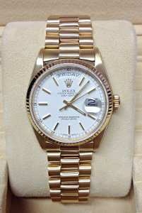 Rolex Day-Date 18038 Yellow Gold From 1985