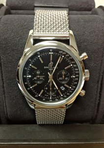 Breitling Transocean Chronograph AB0152 Black Dial