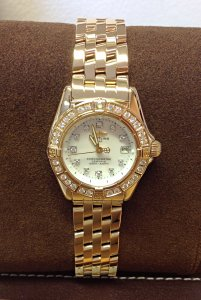 Breitling Callistino K72345 Yellow Gold Diamond Bezel