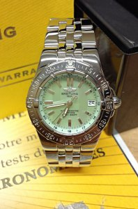 Breitling Starliner A71340 Green M.O.P Dial