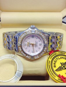 Breitling Callistino D72345 Rose Gold Diamond Bezel