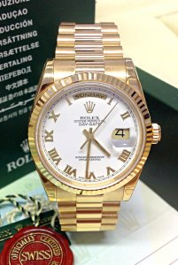Rolex Day-Date Yellow Gold 118238 White Roman Dial