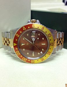 Rolex GMT Master 1675/3 Root Beer Nipple Dial