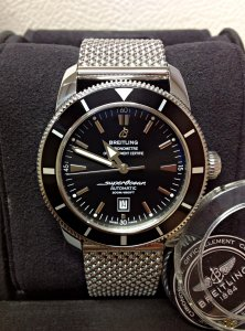 Breitling Superocean Heritage A17320 46mm Black Dial