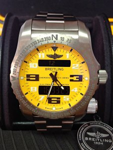 Breitling Emergency II E76325 Yellow Dial