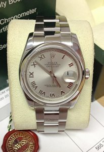 Rolex Datejust 116200 36mm Rhodium Roman