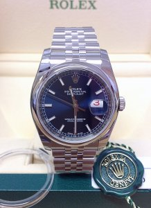 Rolex Datejust 116200 36mm Blue Dial Unworn
