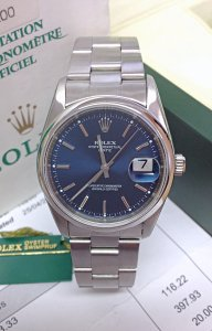 Rolex Oyster Perpetual Date 15200 34mm Blue Dial