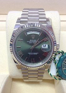 Rolex Day-Date 40 228239 White Gold Unworn