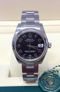 Rolex Datejust 31mm 178240 Black Arabic Unworn