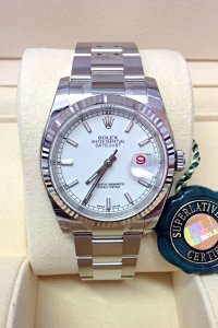 Rolex Datejust 36mm 116234 White Baton