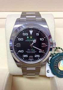 Rolex Air-King 116900 40mm Black Dial Unworn
