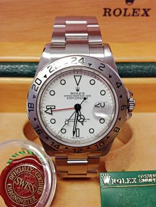 Rolex Explorer II 16570 40mm White Dial