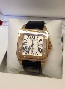 Cartier Santos 100 Yellow Gold W20071Y1 2013
