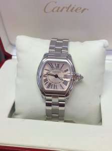 Cartier Roadster W62017V3 Ladies 36.5mm Pink