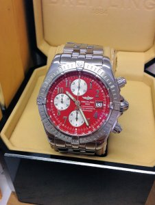 Breitling Chronomat Evolution A13356 Red Dial
