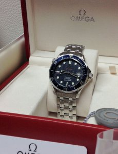 Omega Seamaster 300M Automatic Blue Kit 2220.80.00 Just Serviced By Omega