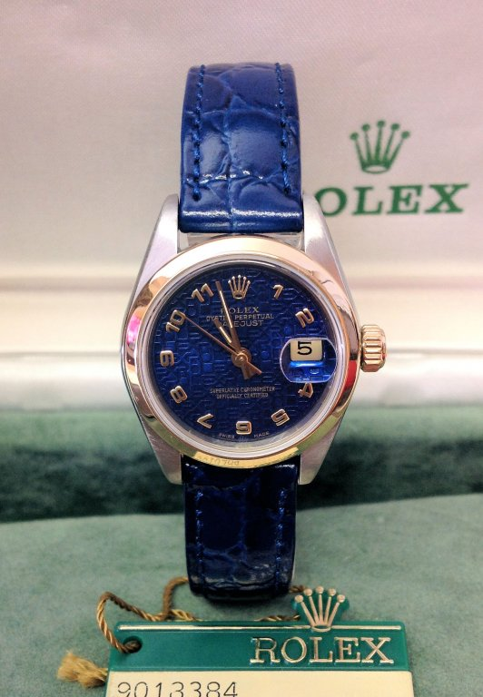 Rolex Lady Datejust 26mm 69173 Blue Dial