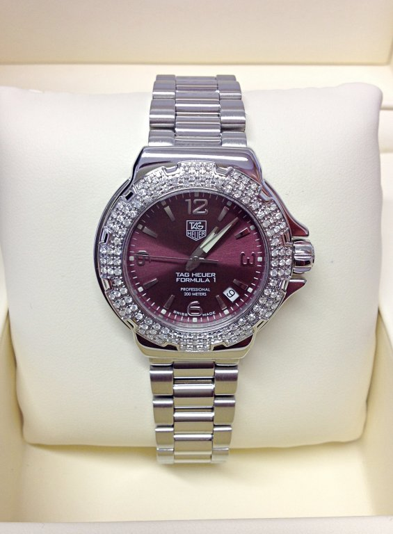 Tag Heuer Formula 1 WAC1219 34mm Diamond Bezel