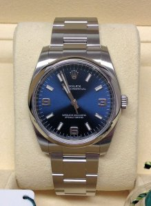 Rolex Oyster Perpetual 114200 34mm Blue Dial