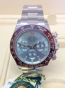Rolex Daytona 116506 Platinum Ice Blue Diamond Dial