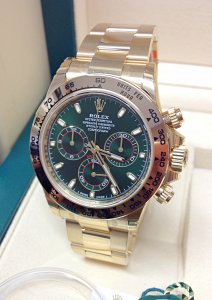 Rolex Daytona 116508 Yellow Gold Green Dial Unworn