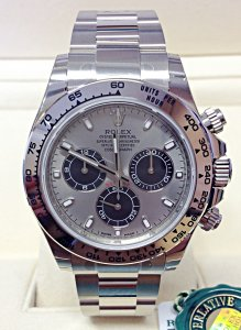 Rolex Daytona 116509 White Gold Steel Dial