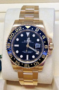 Rolex GMT Master II 116718LN Yellow Gold Unworn