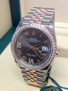 Rolex Datejust 36mm 126281RBR Dark Rhodium Diamond Unworn