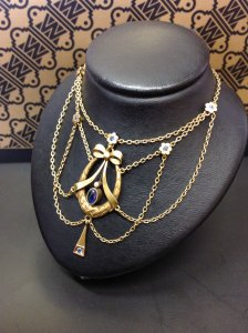 Yellow Gold & Sapphire Necklace