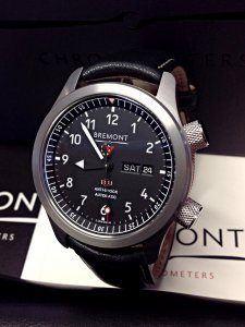 Bremont MBII-BK/OR Martin Baker II Orange Side