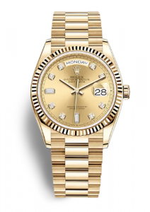 Rolex Day-Date 128238 Yellow Gold Diamond Dial