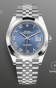 Rolex Datejust 41 126300 Blue Roman Unworn