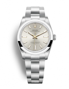 Rolex Oyster Perpetual 34 124200 Silver Dial