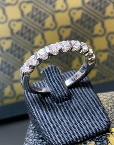 White Gold Half Eternity Ring