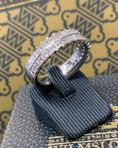 White Gold Twin Row Ring